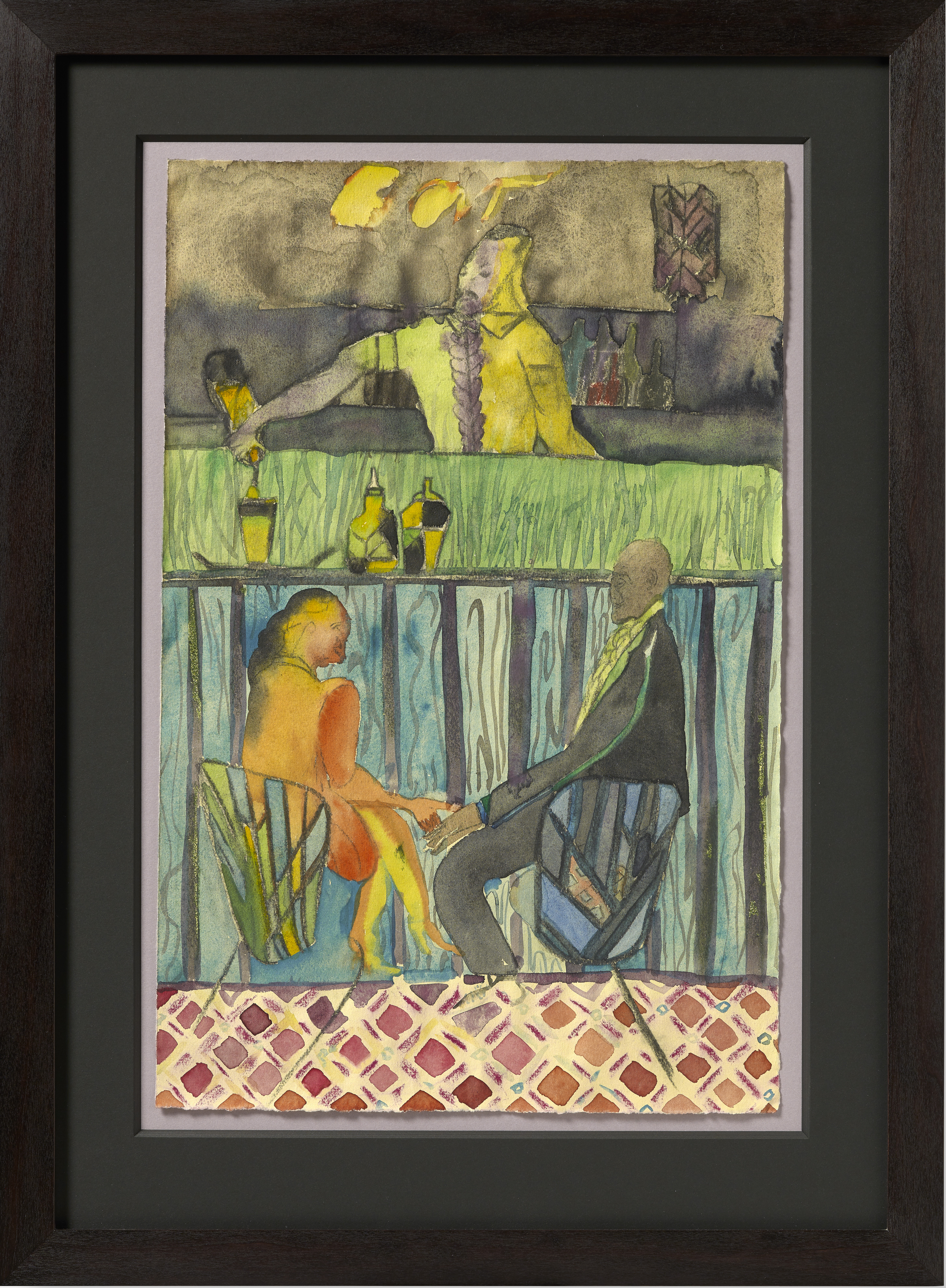 Watercolor art galleries in houston - Watercolor And Charcoal On Paper 19 1 8 X 12 5 8 In 48 6 X 31 9 Cm Chris Ofili Courtesy David Zwirner New York London