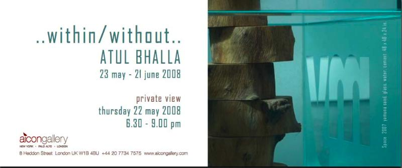 LONDON, Aicon Gallery presents Atul Bhalla...within/without...May 23 - June 21, 2008