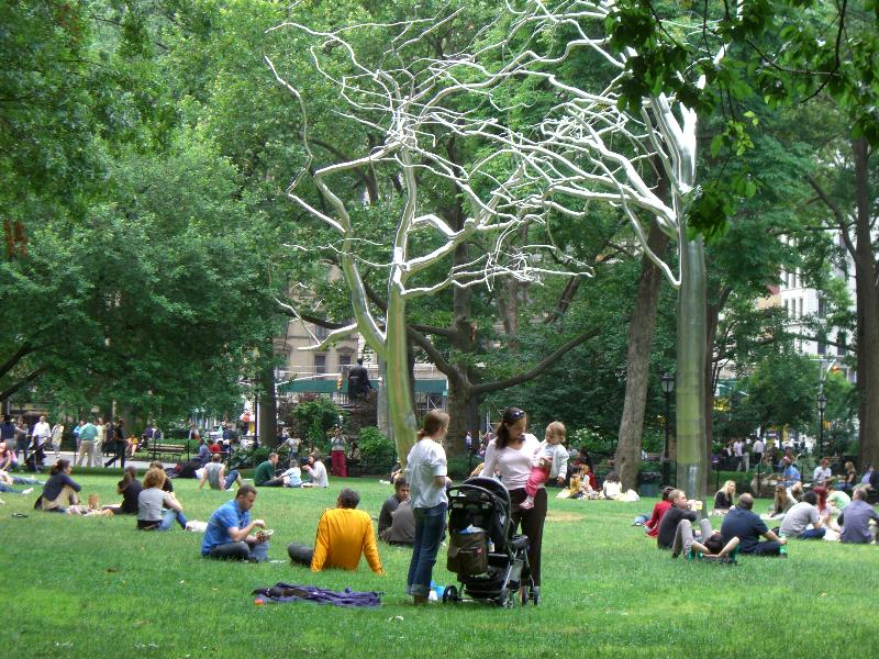 SUMMER 2007, WM #4: Roxy Paine currently exhibits three sculptures in Madison Square  Park