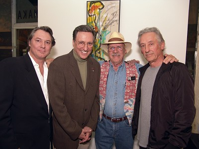 March 07/ WM issue #1: whitehot's Benjamin Pezzillo at the LA opening of The Art of Wall Batterton, 1959 to Present, Ed Ruscha, Curator