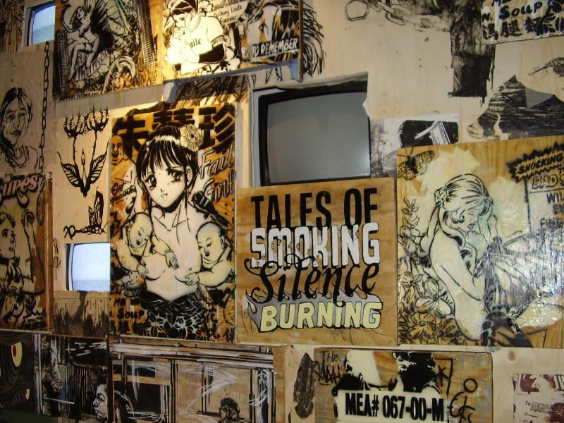 House Fail >> WM | whitehot magazine of contemporary art | Summer 07, WM #4: The Burning House: Faile, Swoon ...
