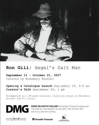 Opening in Toronto, Ron Giii, curated by Rosemary Heather