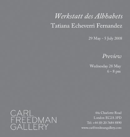 LONDON, Carl Freedman Gallery,