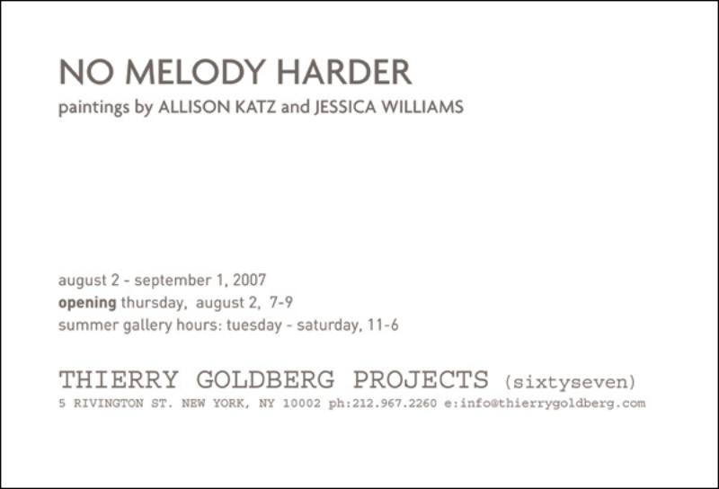 Allison Katz and Jessica Williams Paintings opening
